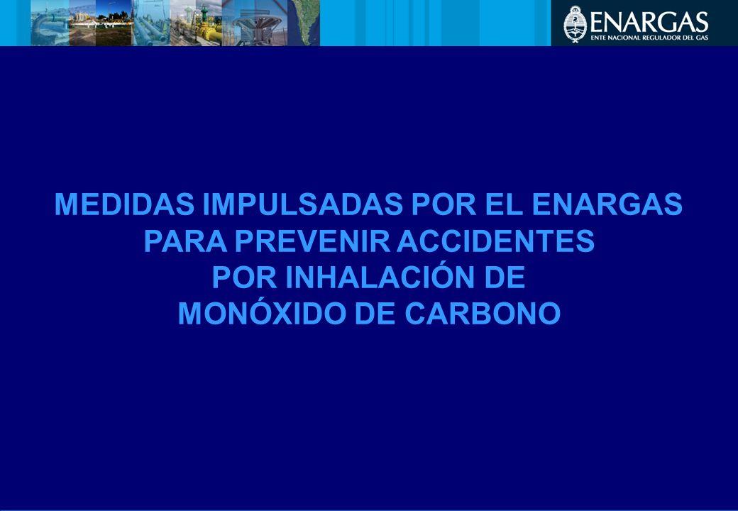 MEDIDAS IMPULSADAS POR EL ENARGAS PARA PREVENIR ACCIDENTES