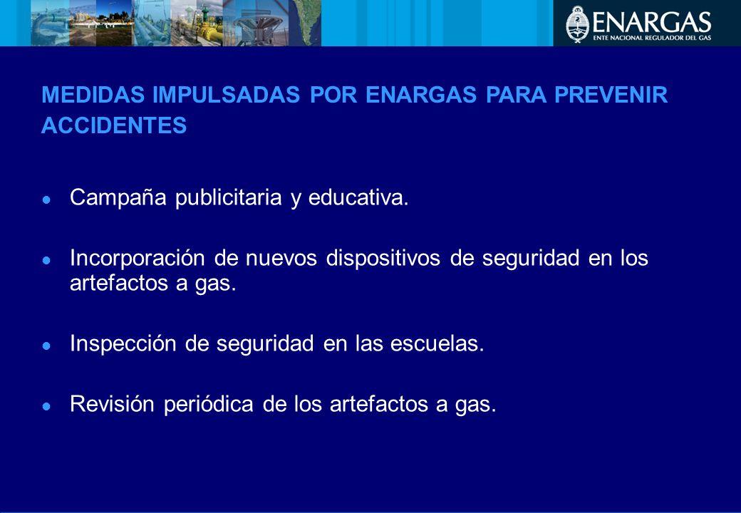 MEDIDAS IMPULSADAS POR ENARGAS PARA PREVENIR ACCIDENTES