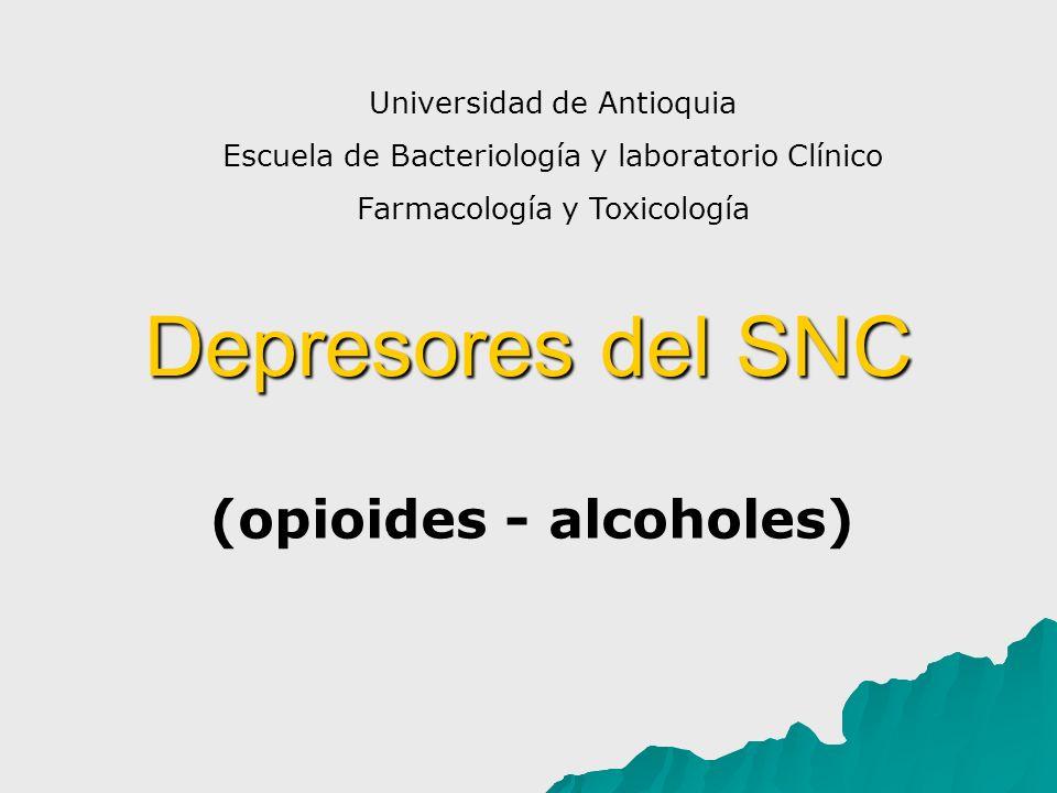 (opioides - alcoholes)