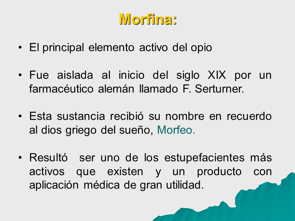 Morfina: El principal elemento activo del opio