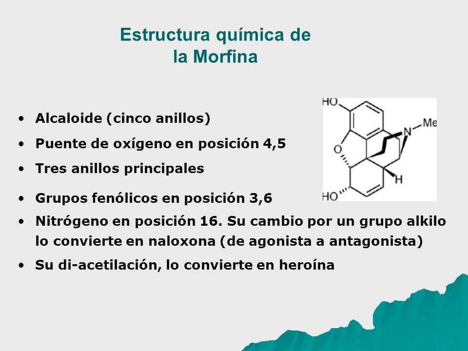 Estructura química de la Morfina
