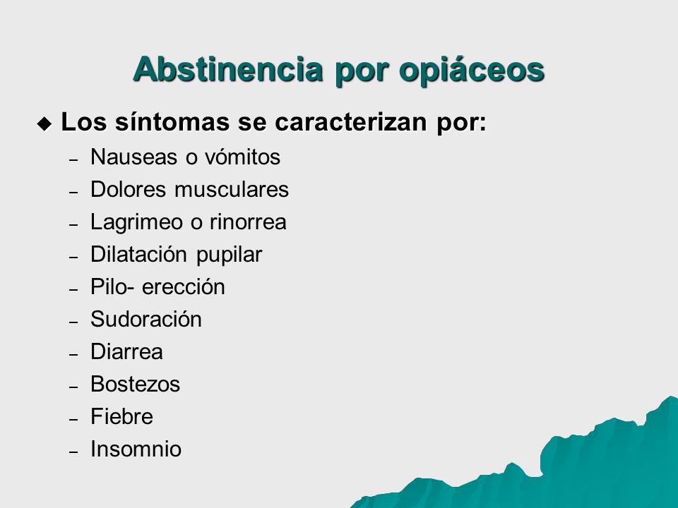 Abstinencia por opiáceos
