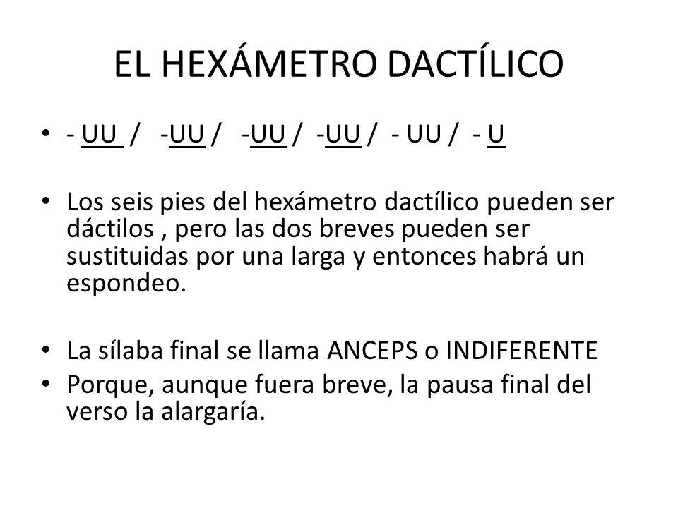 EL HEXÁMETRO DACTÍLICO