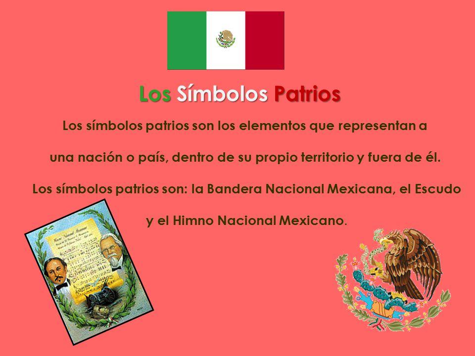 Los Símbolos Patrios Los símbolos patrios son los elementos que representan a. una nación o país, dentro de su propio territorio y fuera de él.