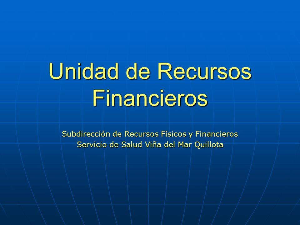 Unidad de Recursos Financieros
