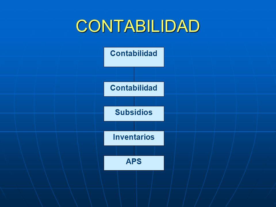 CONTABILIDAD Subsidios Contabilidad Inventarios APS