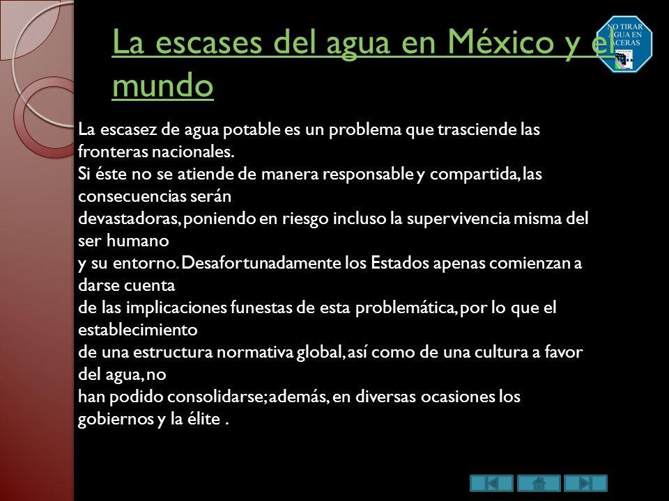 "Escases del agua en México"" - ppt descargar"