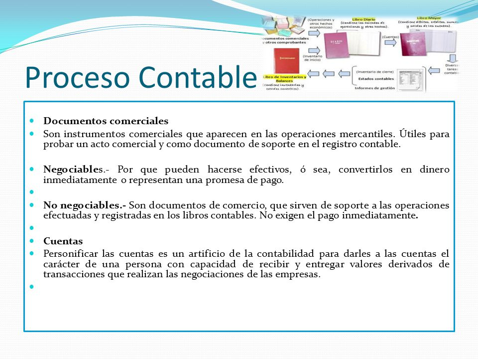 Proceso Contable Documentos comerciales