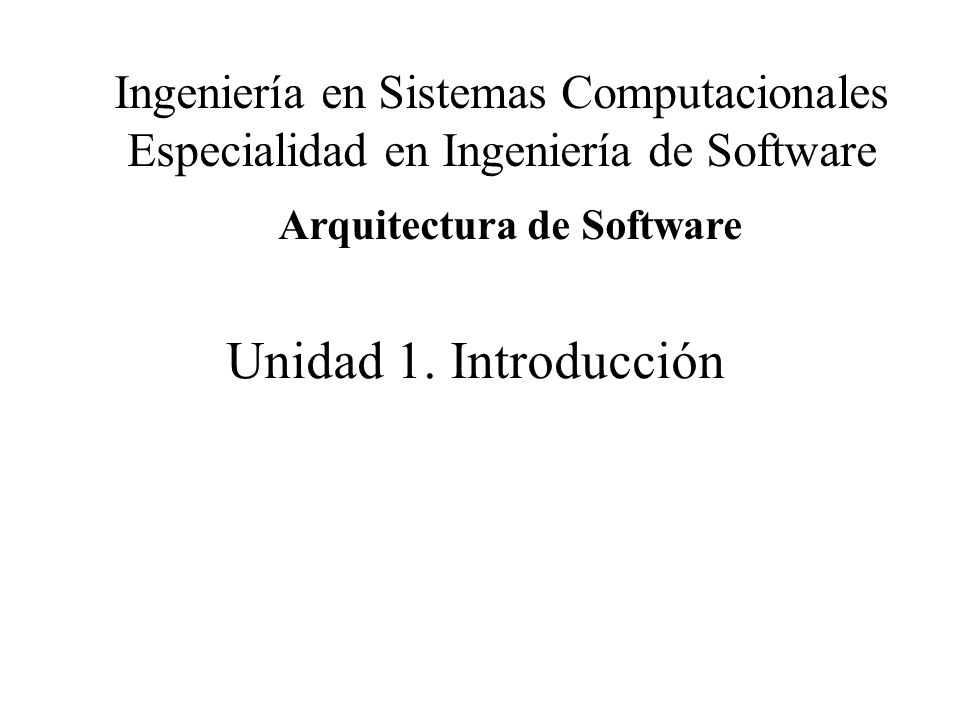 Arquitectura de software ppt descargar for Especializacion arquitectura de software
