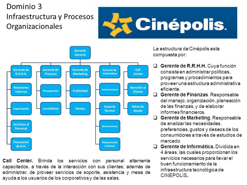 Dominio 3 Infraestructura y Procesos Organizacionales