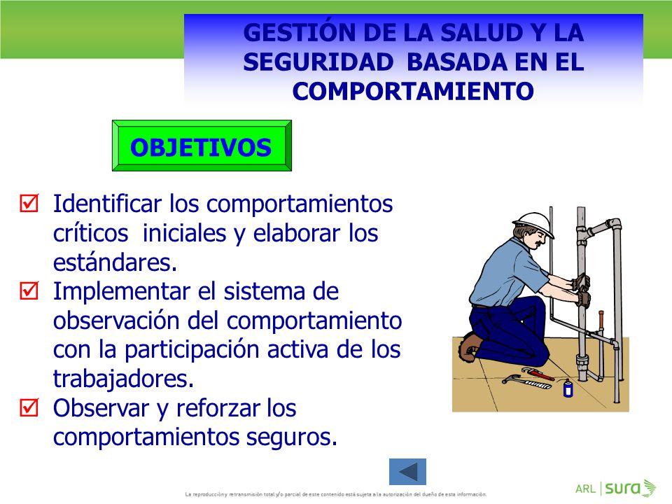 GESTIÓN DE LA SALUD Y LA SEGURIDAD BASADA EN EL COMPORTAMIENTO