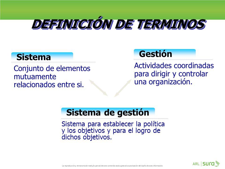 DEFINICIÓN DE TERMINOS
