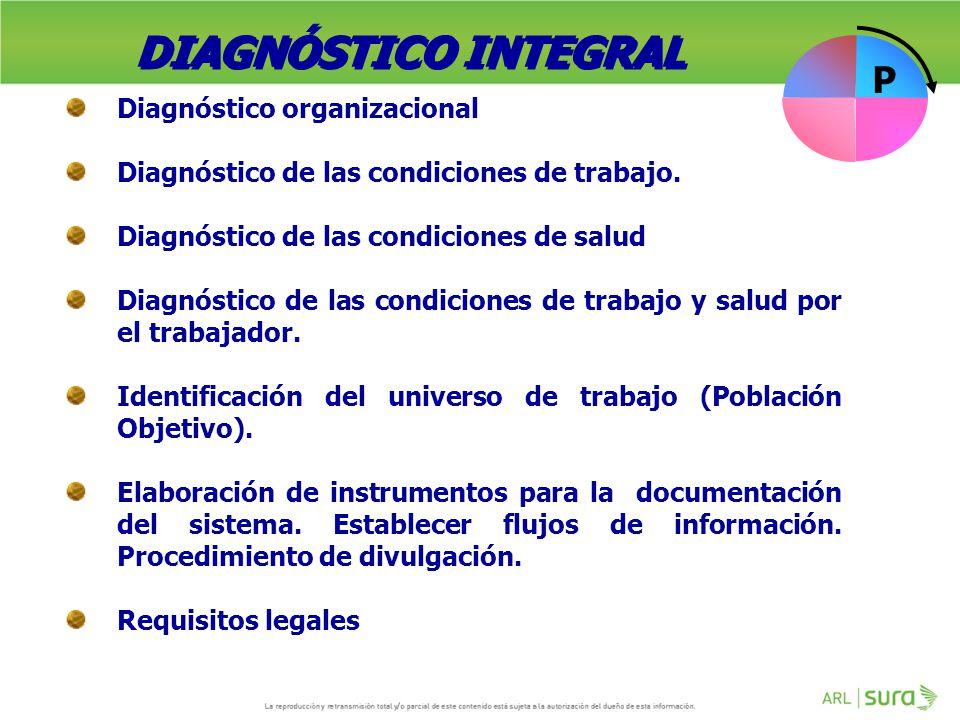 DIAGNÓSTICO INTEGRAL P Diagnóstico organizacional