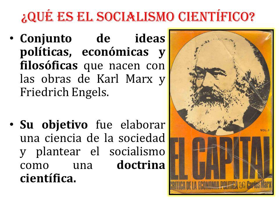 ¿QUÉ ES EL SOCIALISMO CIENTÍFICO