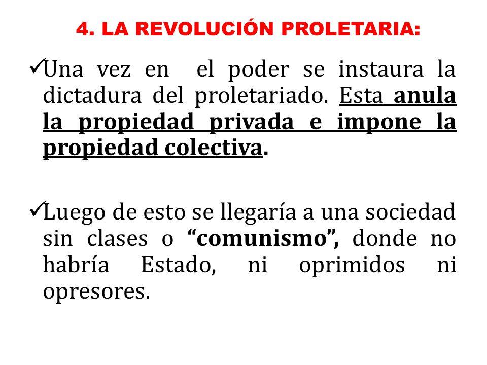 4. LA REVOLUCIÓN PROLETARIA: