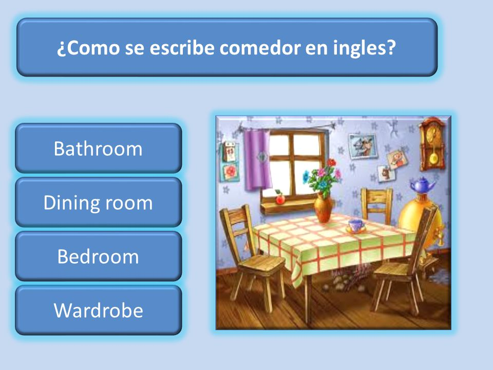 Partes y objetos de la casa ppt descargar for Dining room y sus partes