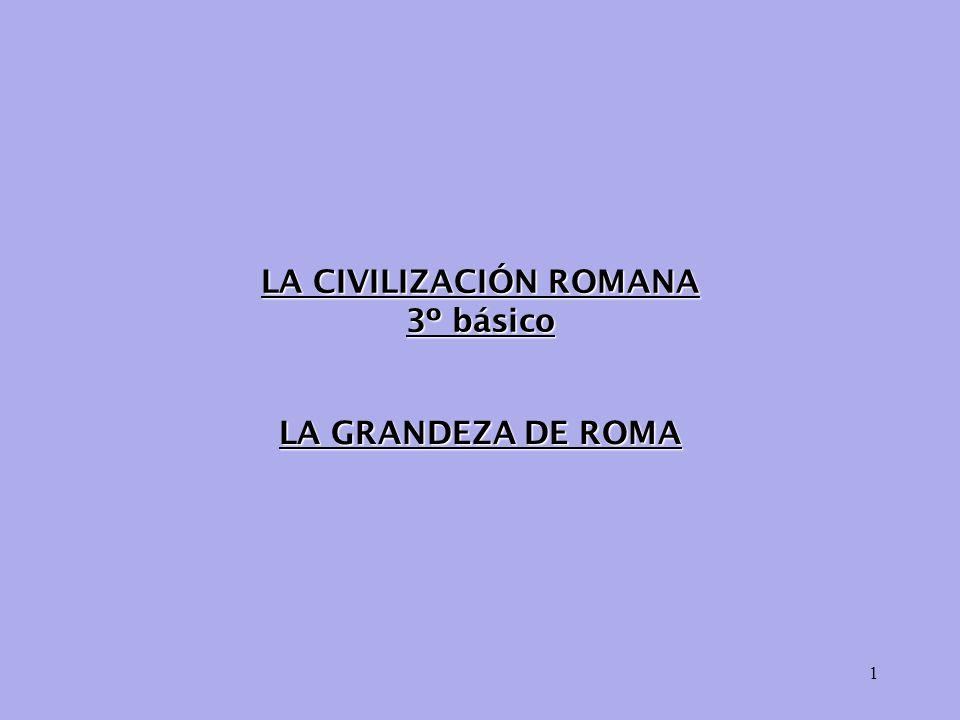 LA CIVILIZACIÓN ROMANA 3º básico