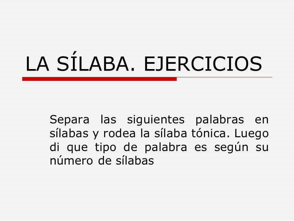 Resultado de imagen de la silaba ejercicios