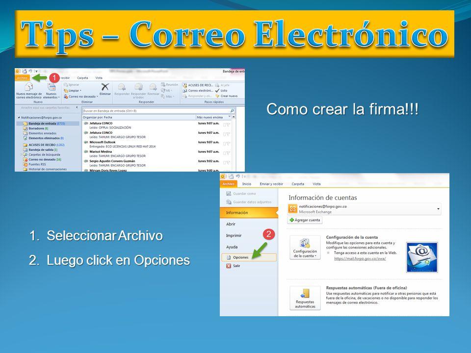 Tips – Correo Electrónico