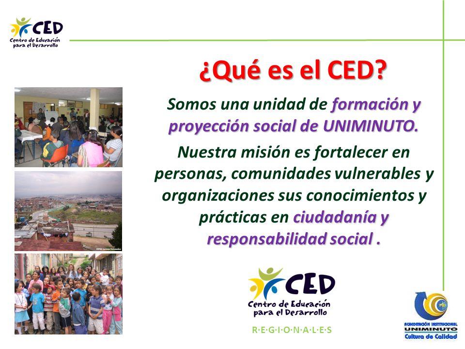 Somos una unidad de formación y proyección social de UNIMINUTO.