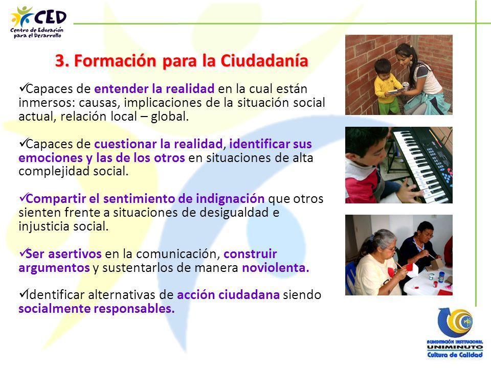 3. Formación para la Ciudadanía
