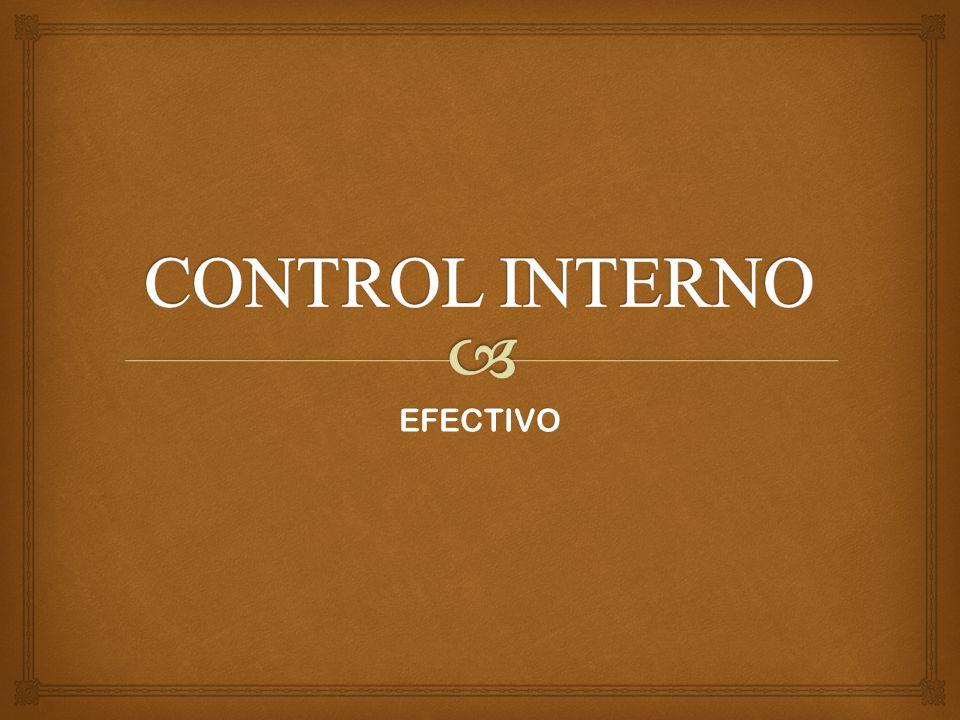 CONTROL INTERNO EFECTIVO