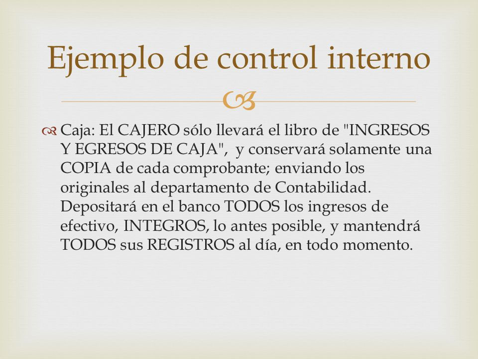 Ejemplo de control interno
