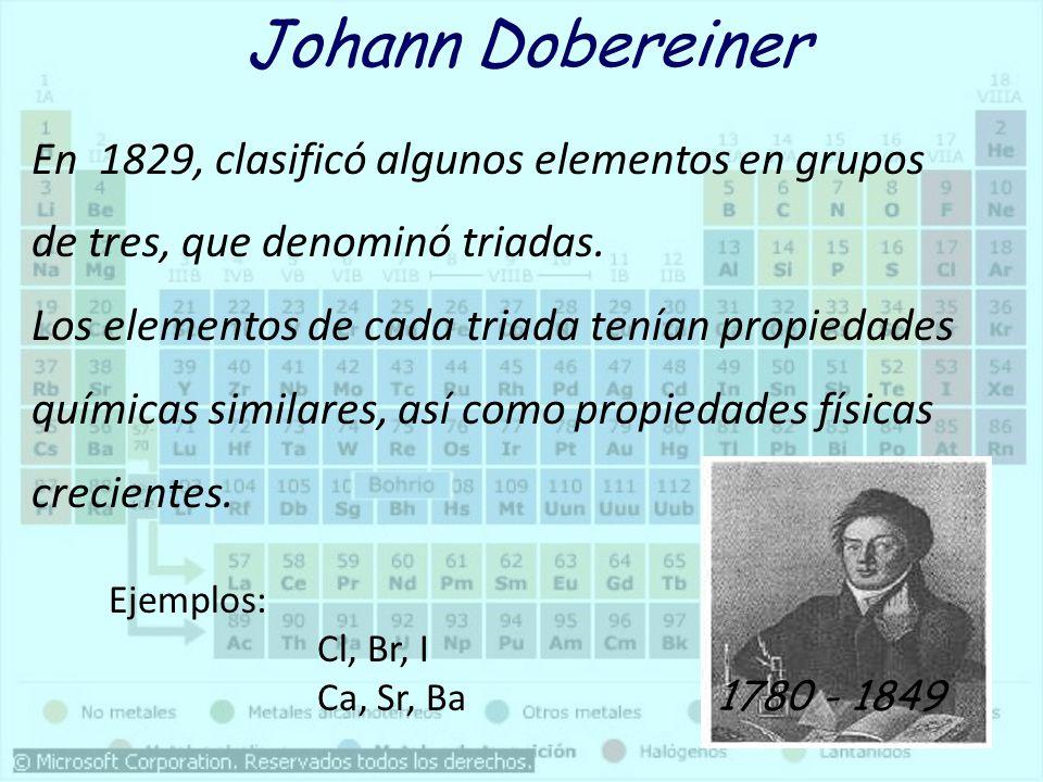 Qumica general tabla periodica ppt descargar johann dobereiner urtaz Choice Image
