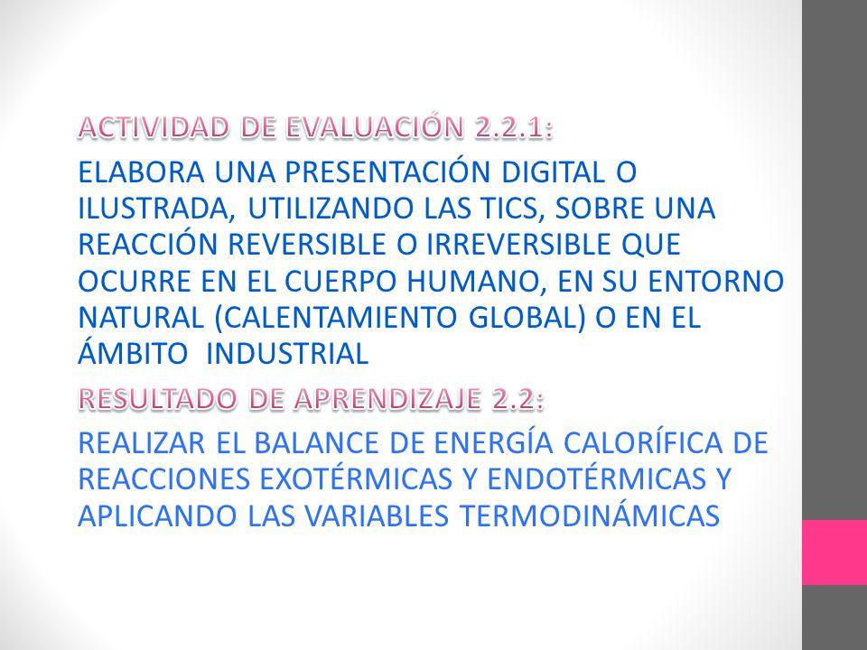 ACTIVIDAD DE EVALUACIÓN 2.2.1:
