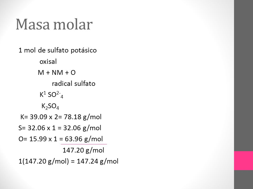 Masa molar