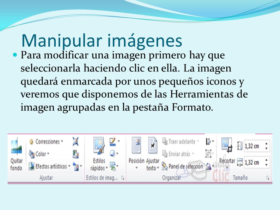 Manipular imágenes