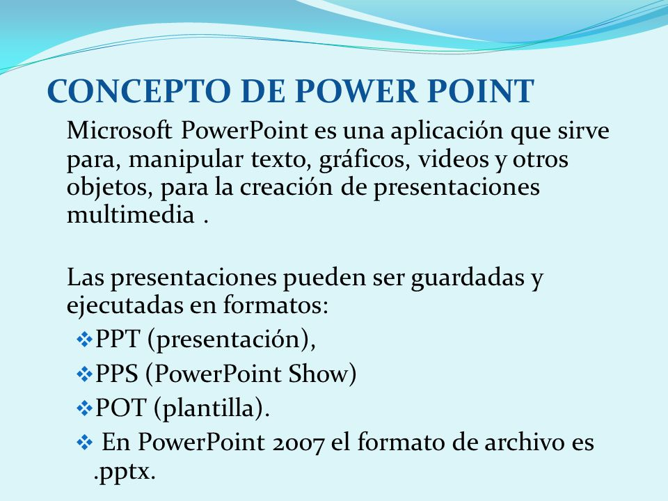 CONCEPTO DE POWER POINT