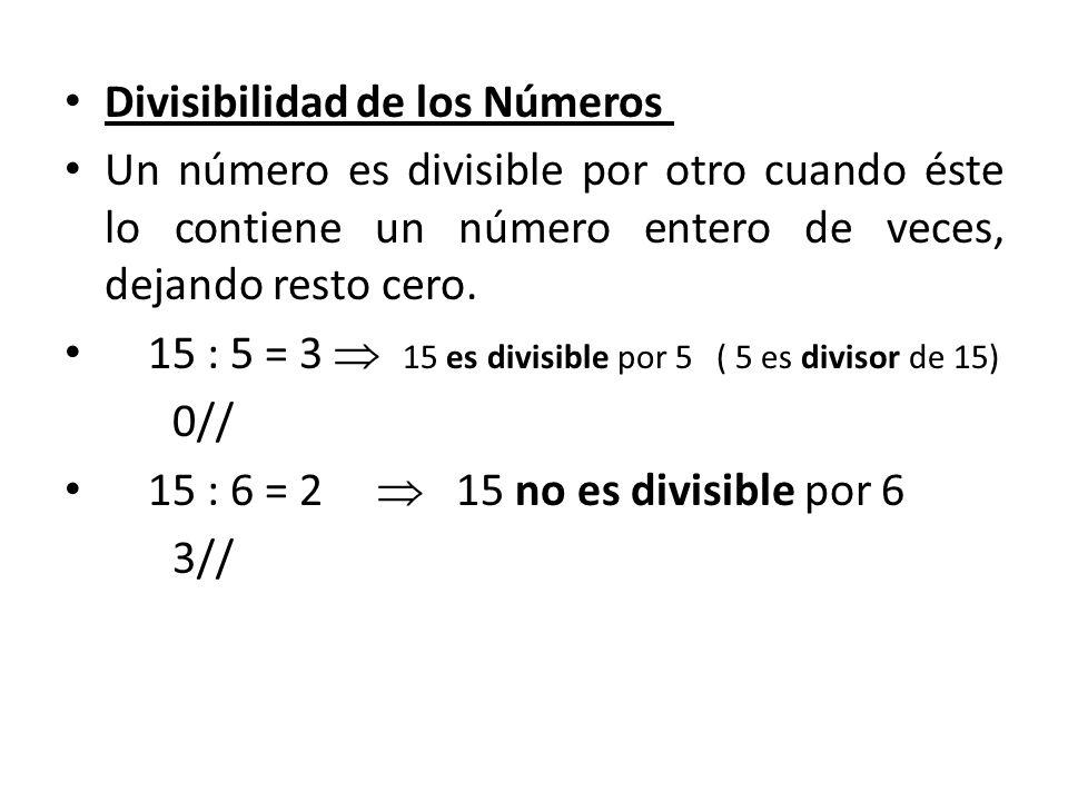 Divisibilidad de los Números