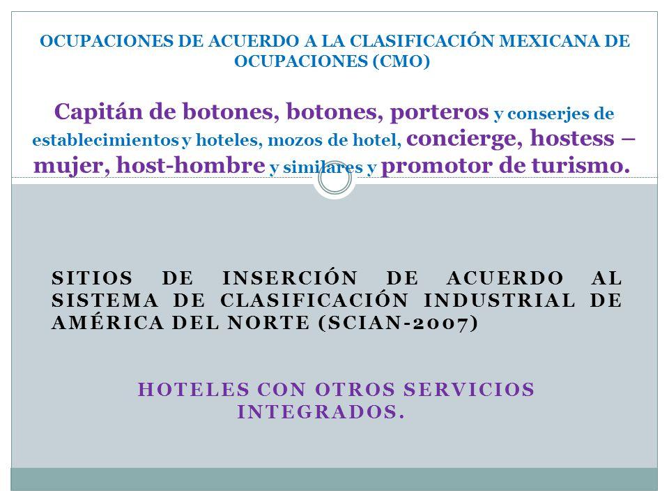 HOTELES con otros servicios integrados.