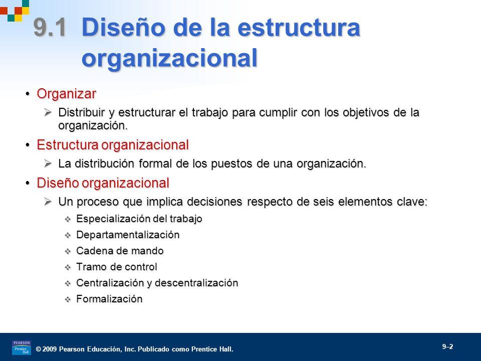estructura y diseño organizacional - ppt video online descargar