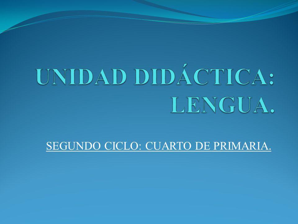 UNIDAD DIDÁCTICA: LENGUA. - ppt video online descargar