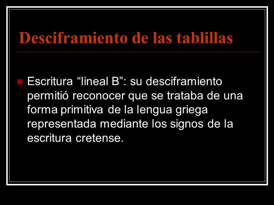 La civilizaci n mic nica ppt video online descargar for Las tablillas