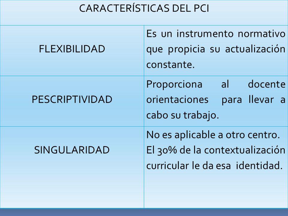 CARACTERÍSTICAS DEL PCI