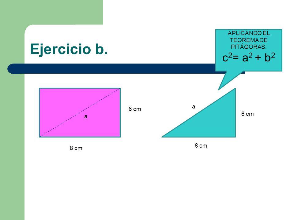 APLICANDO EL TEOREMA DE PITÁGORAS: