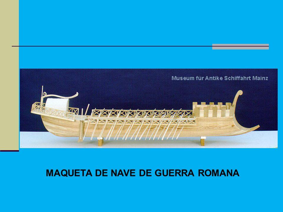 MAQUETA DE NAVE DE GUERRA ROMANA