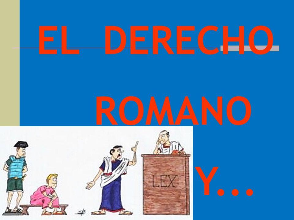 EL DERECHO ROMANO Y...