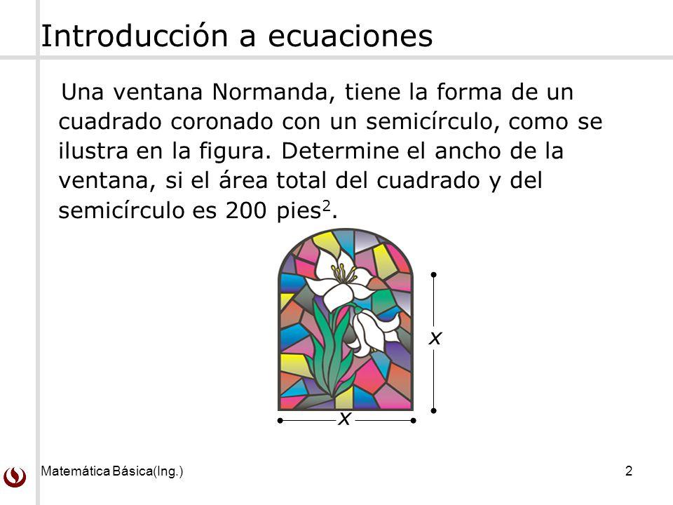 Introducción a ecuaciones