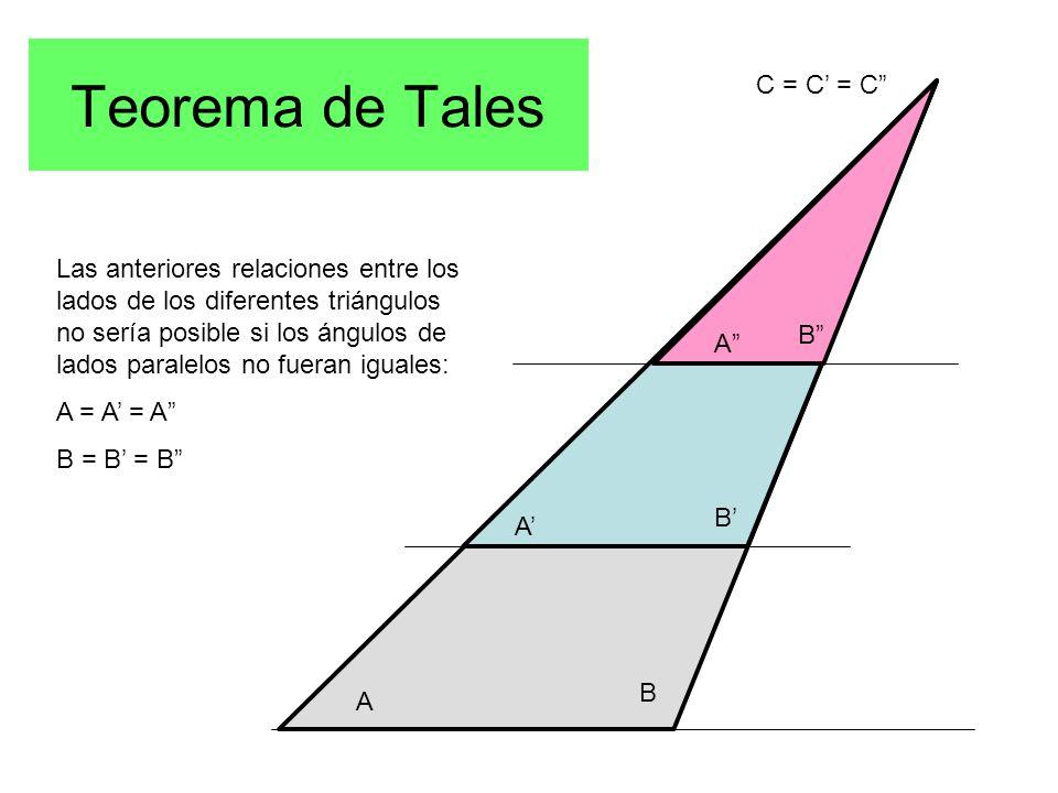 Teorema de Tales C = C' = C