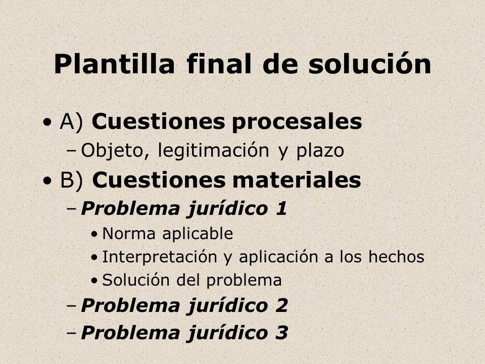 Plantilla para resolver un caso práctico - ppt descargar