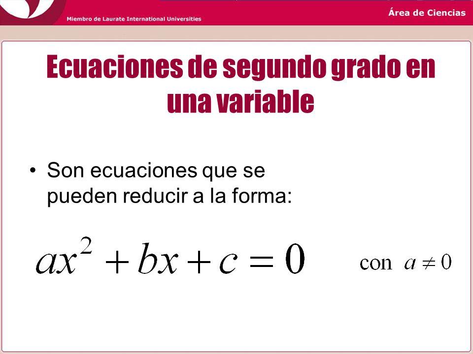 Ecuaciones de segundo grado en una variable ppt video for Ecuaciones de cuarto grado
