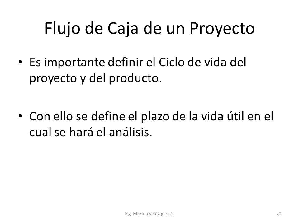 Flujo de Caja de un Proyecto