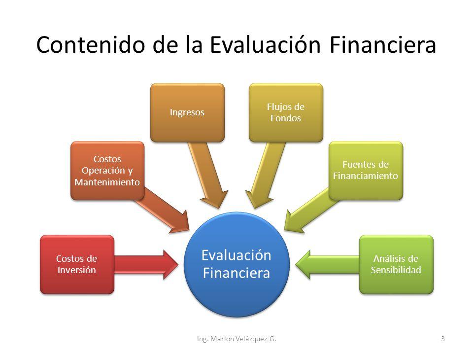 Contenido de la Evaluación Financiera