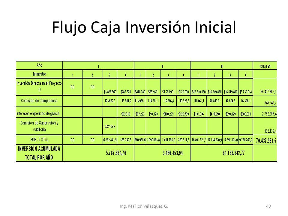 Flujo Caja Inversión Inicial