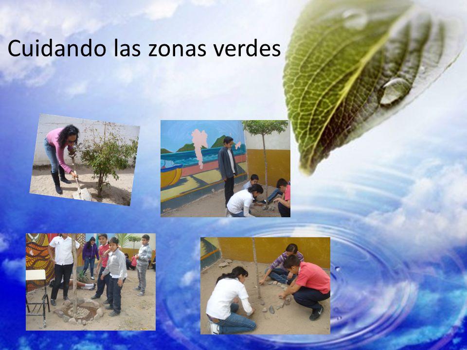 Cuidando las zonas verdes