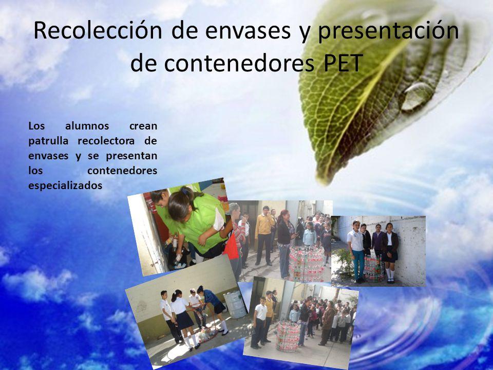 Recolección de envases y presentación de contenedores PET